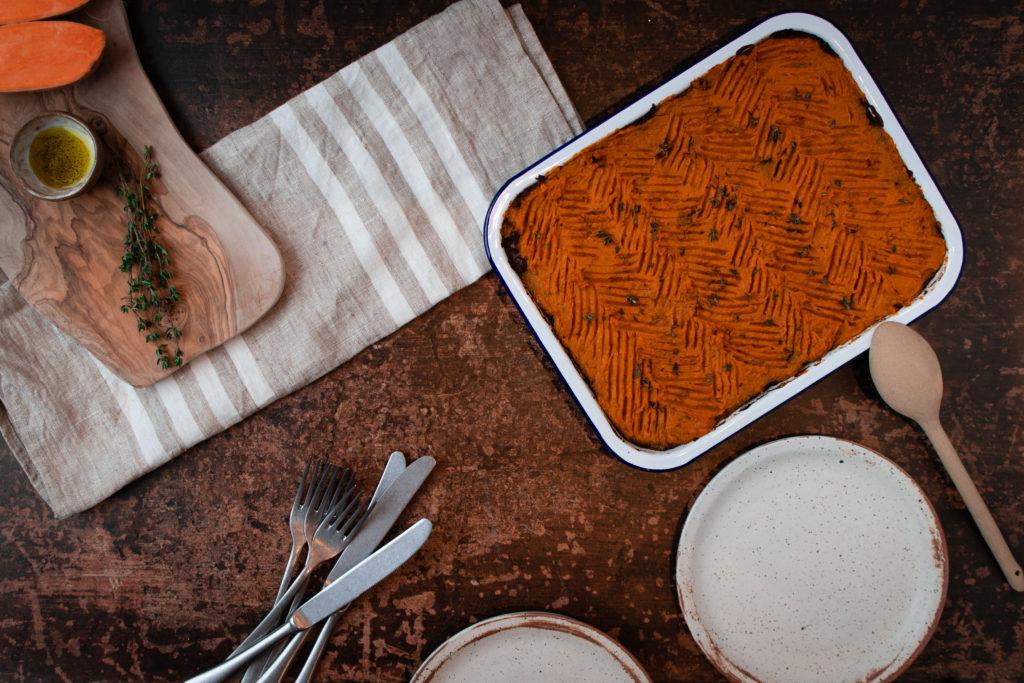 Healthy, Gluten-Free Sweet Potato Shepherd's Pie [Vegan]