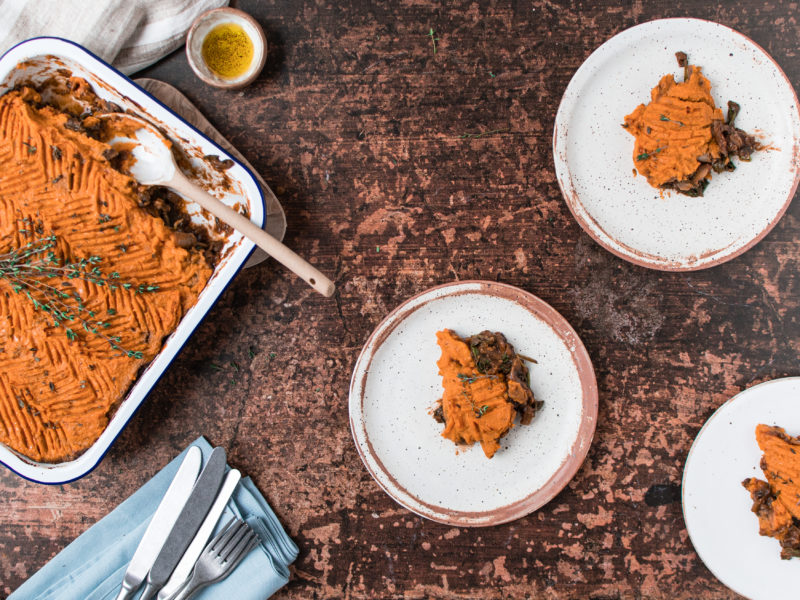 Healthy, Gluten-Free Sweet Potato Shepherd's Pie [Vegan] 1