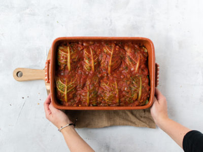 Easy, Gluten-Free, Low-Carb Stuffed Cabbage Rolls with Meat and Mushroom 2
