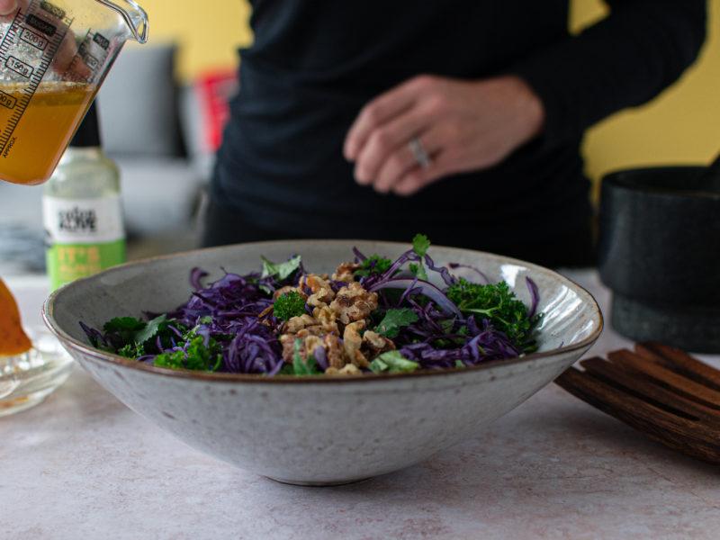 Red Cabbage Salad with Fermented Orange Vinaigrette