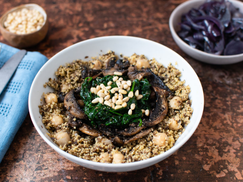 Chickpea Couscous With Black Truffle (Vegan, Gluten-Free)